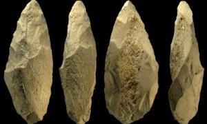 Strumenti in selce bifacciali dei Neanderthaliani