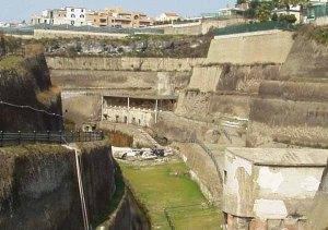 L'ingresso della Villa dei Papiri a Ercolano