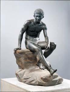 Statua in bronzo di Mercurio proveniente dalla Villa dei Papiri