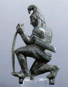 Bronzetto raffigurante Paride arciere