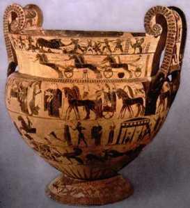 Il vaso Francois al museo Archeologico di Firenze