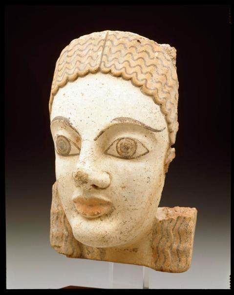 Antefissa etrusca del V secolo a.C. in terracotta policroma