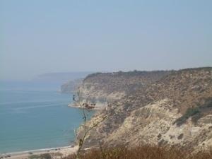 Il golfo di Kourion su cui si affaccia il villaggio di Erimi