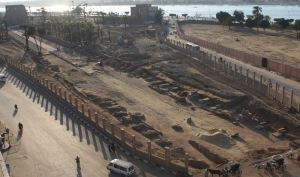 Il grande cantiere del viale delle Sfingi a Luxor
