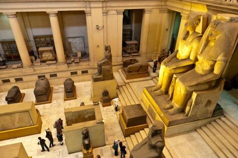 La monumentalità dell'allestimento del Museo Egizio al Cairo