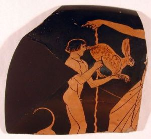 Frammento di ceramica greca al museo di Adria