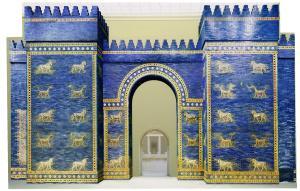 La porta di Ishtar a Babilonia (oggi al Pergamon museum di Berlino)
