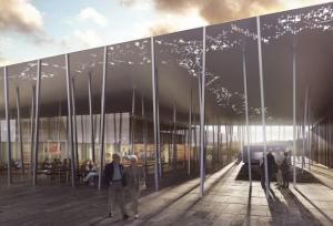 Il rendering del nuovo centro visitatori a Stonehenge