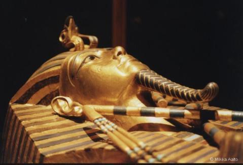 Particolare del sarcofago del faraone Tutankhamon