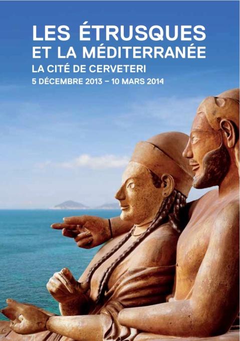 """Il manifesto della mostra """"Les Etrusques et la Mediterranee"""" al Louvre Lens"""
