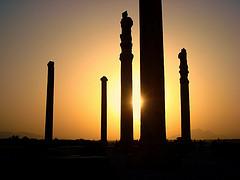 Suggestiva visione dell'apadana di Persepoli
