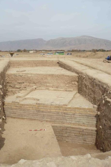 L'edificio di epoca achemenide portato alla luce nello scavo di Tol-e Ajori, vicino a Persepoli in Iran