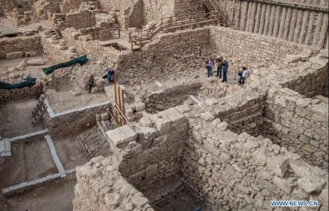I resti dell'edificio del periodo della dinastia degli Asmonei scoperto a Gerusalemme