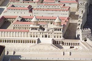 Il modello del palazzo reale degli Asmonei a Gerusalemme