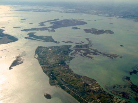 Il litorale di Jesolo ai limiti della laguna nord di Venezia