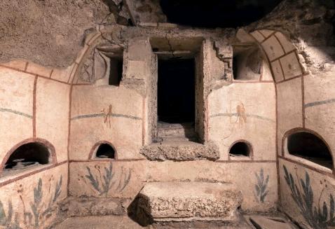 La necropoli di via Triumphalis ha restituito una quarantina di edifici sepolcrali