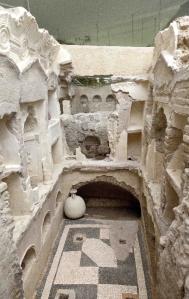 L'interno del Colombario III, dopo restauro, nel settore della necropoli di S. Rosa