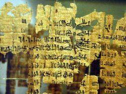 Il Papiro dei re conservato al museo Egizio di Torino