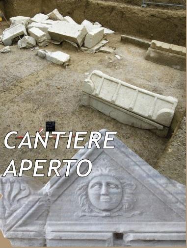 Visite guidate al cantiere di restauro del monumento funerario romano di via San Pietro di Concordia