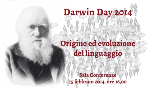 La locandina del Darwin Day 2014 al museo Pigorini di Roma