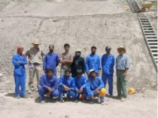 Il gruppo della missione irano-italiana al bastione di Bam