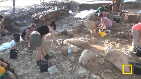 Lo scavo a Tel Kabri in Galilea nel nord di Israele