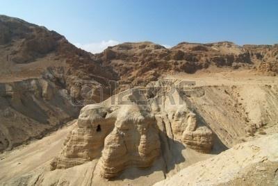 Le grotte di Qumran affacciate sul mar Morto in Israele