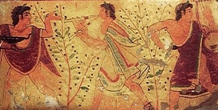 Le tombe dipinte di Tarquinia testimoniano l'importanza della musica per gli etruschi