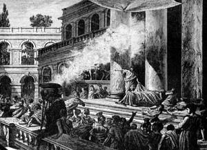 L'orazione di Marco Antonio ai funerali di Giulio Cesare