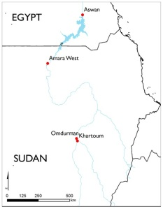 Il sito archeologico di Amara West, attualmente in Sudan