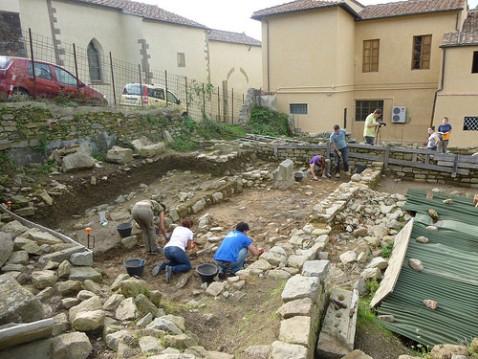 L'Area Garibaldi a Fiesole dove è stato scoperto un sito longobardo