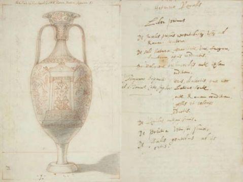 """Uno dei disegni originali del """"De Etruria Regali"""" ritrovato in un corridoio d'attico di Holkham Hall"""
