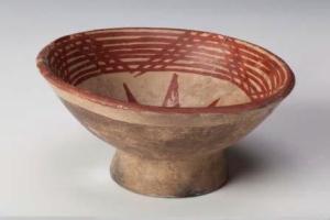 Una coppa precolombiana proveniente dall'Ecuador e in mostra a Genova