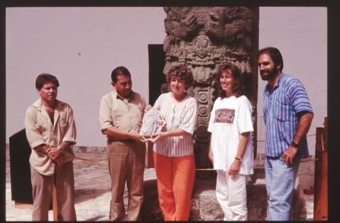 La curatrice del museo delle Culture del mondo-Castello d'Albertis, Maria Camilla de Palma, in una missione in un sito precolombiano