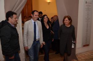Sergio Caci, sindaco di Montalto di Castro; Francesco Barracciu, sottosegretario; Alfonsina Russo Tagliente, soprintendente