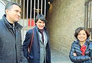 Casali, Tinè e Bruno in sopralluogo