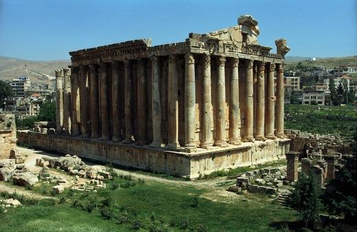 Il tempio di Giove e Bacco a Baalbeck, uno dei più famosi del Vicino Oriente