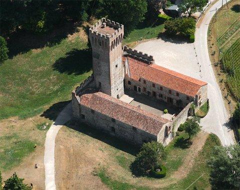 Il castello a Cervarese S. Croce che ospita il museo archeologico del fiume Bacchiglione