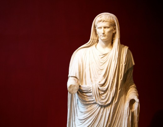 Una famosa statua dell'imperatore Cesare Ottaviano Augusto