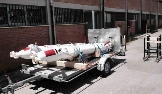 I due robot subacquei: il TifOne e il TifTu, le cui operazioni sono coordinati dal prof. Allotta