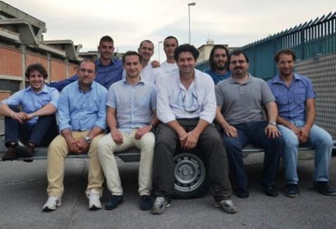 Il team di ricercatori fiorentini coordinato dal prof. Benedetto Allotta, al lavoro in Israele