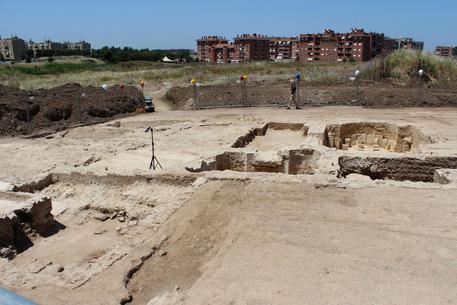 L'area del cantiere-didattico dove è stato scoperto l'impianto termale annesso a una villa del I sec. d.C.