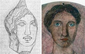 Alcuni dei ritratti dipinti su tondi in terracotta realizzati da Biondi e donati a Mussolini