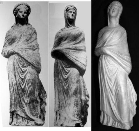Statuine in terracotta ricavate da matrici appartenute allo stesso Biondi e usate dai discendenti per produrre falsi