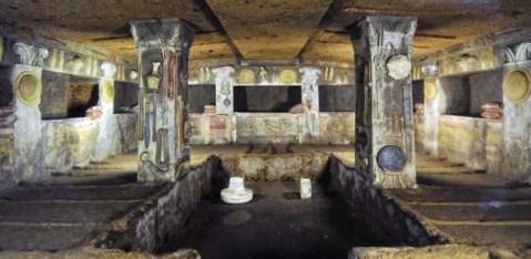 La Tomba dei Rilievi nella necropoli della Banditaccia a Cerveteri