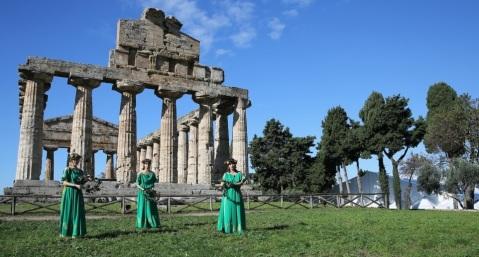 L'area adiacente al tempio di Cerere a Paestum ospita parte degli eventi della XVII Bmta