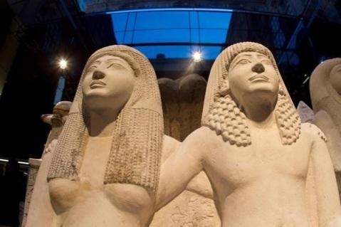 Il nuovo allestimento negli spazi ipogei del museo Egizio di Torino