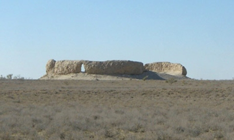 Il tumulo a forma di yurta (la casa mobile degli Sciti-Saka) scoperto nella missione congiunta 2013