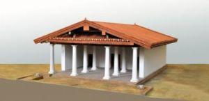 Modellino con una ricostruzione del Tempio B di Pyrgi