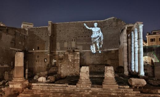 La sera il foro di Augusto a Roma rivive con lo spettacolo a effetti speciali di Piero Angela